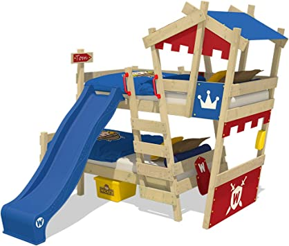 WICKEY Litera CrAzY Castle Cama infantil doble 90x200 Cama alta ...