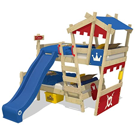 Wickey Bunk Bed Crazy Castle Double Children Bed Loft Bed With Slide