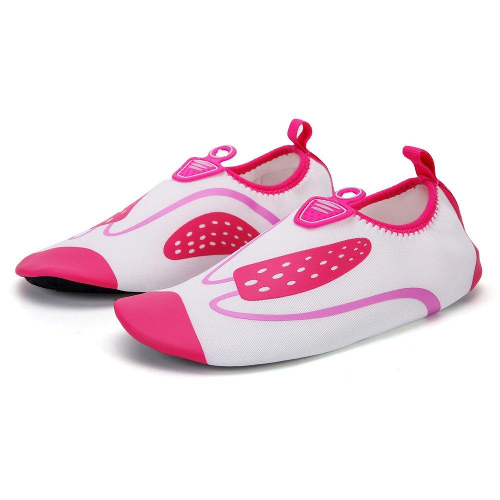 Humasol Men Women's Lightweight Quick-Dry Aqua Shoes Multifunctional Water Socks for Swim Beach Pool B073WVWRX6 US Women:12-13.5/ Men:10.5-12 (EU 43-44)|D-White & Red