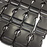 "Misscrafts 1"" Quick Side Release Plastic Buckle Heavy Duty for Backpack Buckle Replacement 20PCS Black"