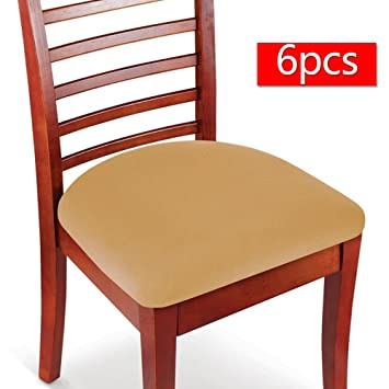Boshen Elastic Spandex Chair Stretch Seat Covers Protector For Dining Room Kitchen Chairs Stretchable 2 4