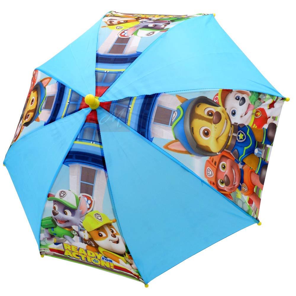 Paw Patrol Regenschirm für Kinder, Stockschirm, 69 cm, blau/gelb, Polyester 25773_117281