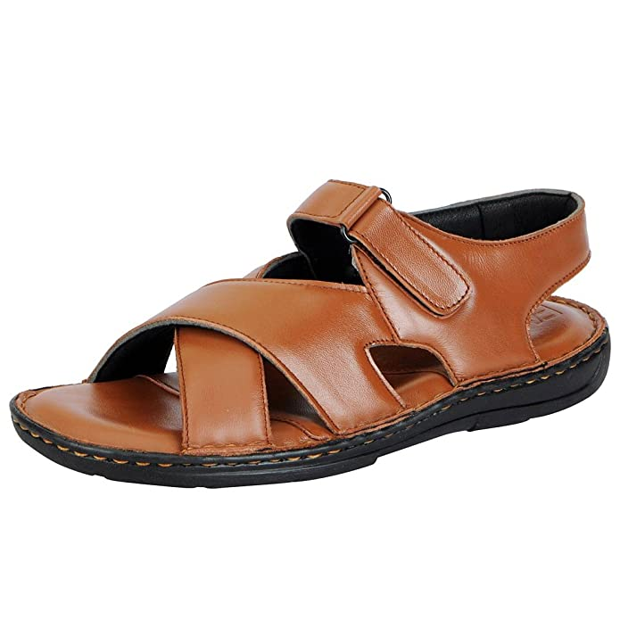 b289483e5335 Fausto Men s Leather Sandals Sandals   Floaters