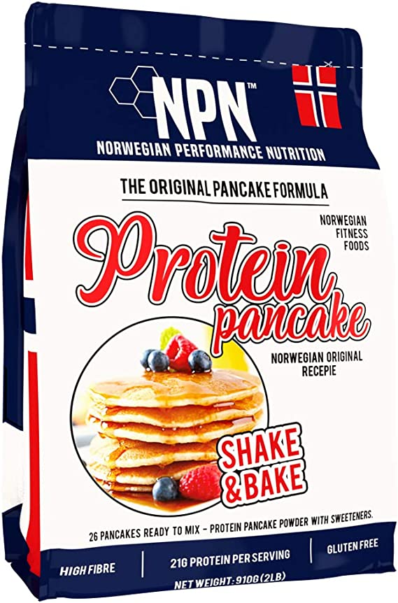 NPN Protein Pancake mix | panqueque de proteína en polvo | Fórmula sin gluten | Fuente de triple proteína | Agite y hornee 26 panqueques | 910g ...