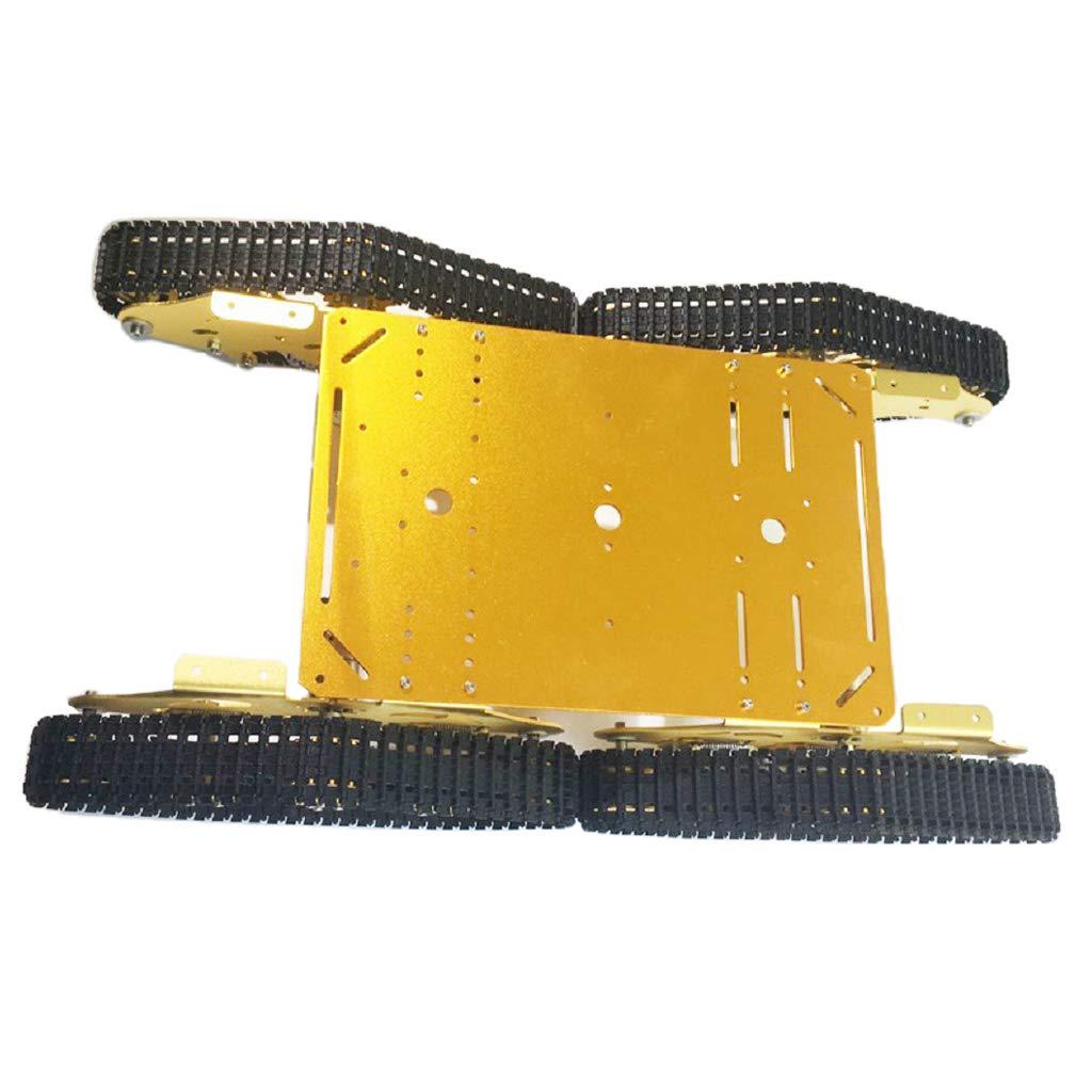 F Fityle スマートカー ボディパーツ シャーシ アルミ合金 衝撃吸収 高耐久 自由研究 工作 DIY ゴールド B07P4MHH7S