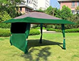 gazebo curtains with velcro Cloud Mountain 1 PC Wall Side Gazebo Canopy Wind and Sun Shade Privacy Panel Curtain Replacement, Hunter Green