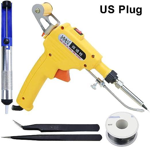 Electric Soldering Iron Gun 60W 110V Adjustable Temperature Welding Set Tool US