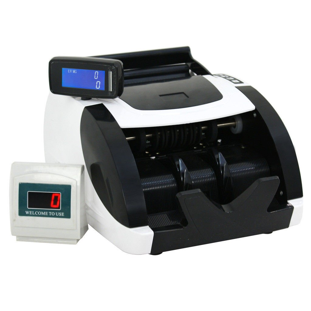 BBBuy Money Counter with UV/MG/IR Counterfeit Bill Detection, Counterfeit Alarm, 1000 Bills per Minute, Professional Cash Counting Machine by BBBuy (Image #2)