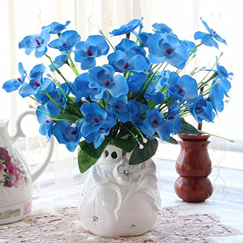 Situmi Artificial Fake Flowers Ceramic Vases Plastic Decorated KHome Accessories Artificial Flower SituMi