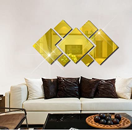 Amazon.com: Dir Mirror Wall Stickers Removable Environmental ...