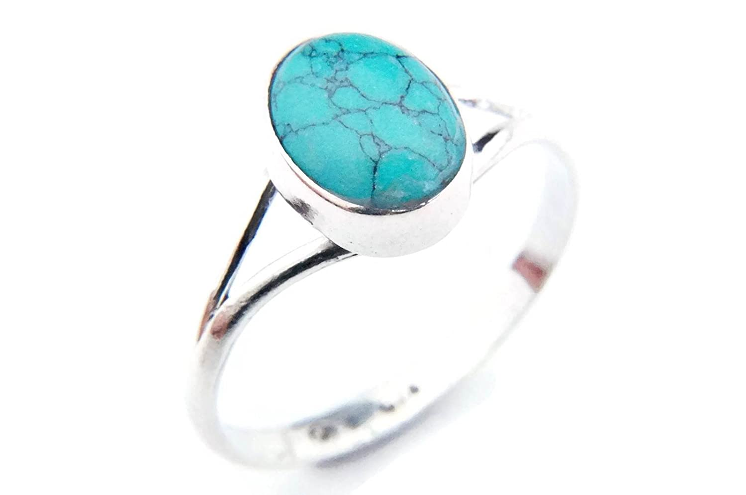 Bague argent 925 sterling avec turquoise x (MRI 92) mantraroma