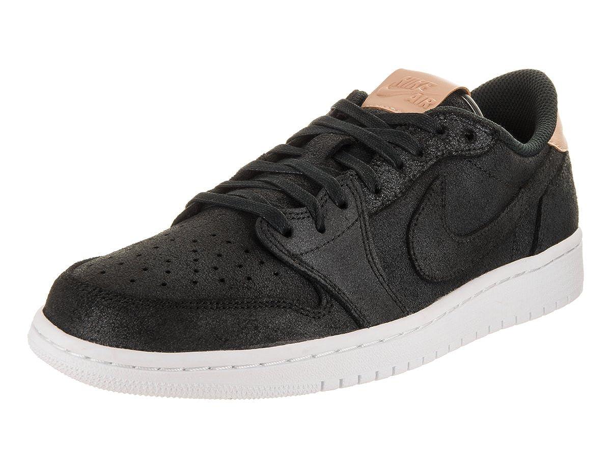 buy online 9a5bc 91e3b Amazon.com   Jordan Nike Men s Air 1 Retro Low OG Premier Basketball Shoes  10 Black   Shoes