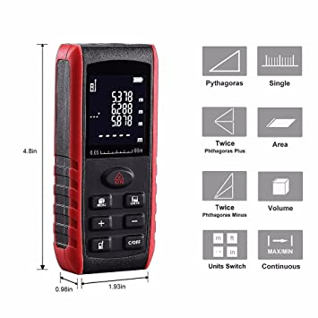 Mini Handheld Electronic Laser Distance Meter Laser Rangefinder Tape Measure