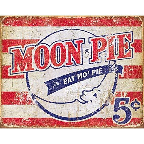 - Unoopler Moon Pie - Eat Mo' Pie Tin Sign 8x12in