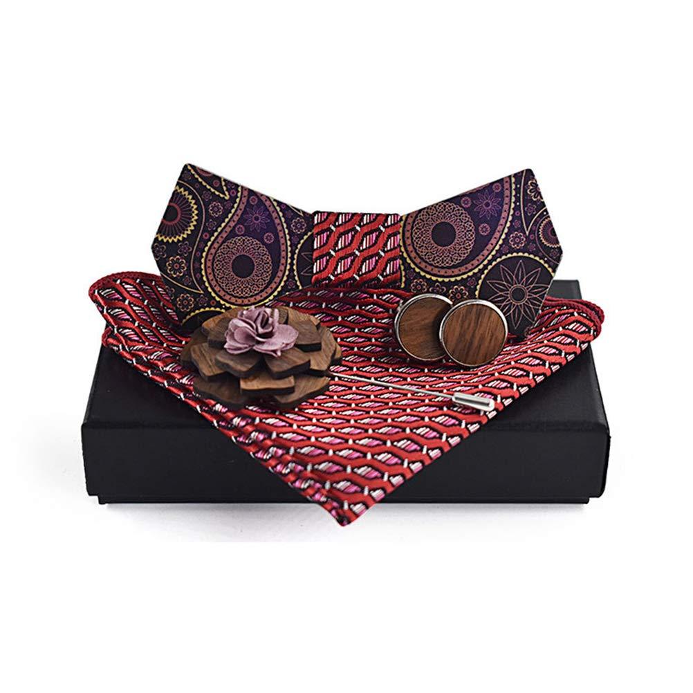 Mens Dark Purple Wooden Bow Tie Adjustable Bowt