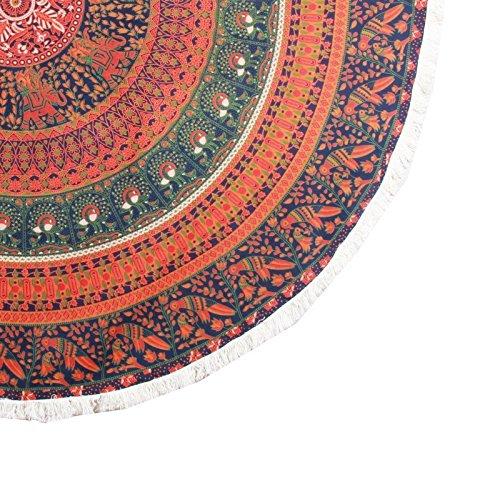 jth redondo Mandala diseño hippie Boho Roundie esterilla de ...