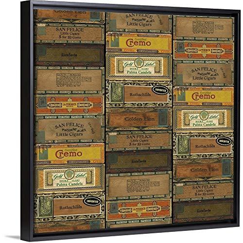 Cigar Boxes Black Floating Frame Canvas Art, 18