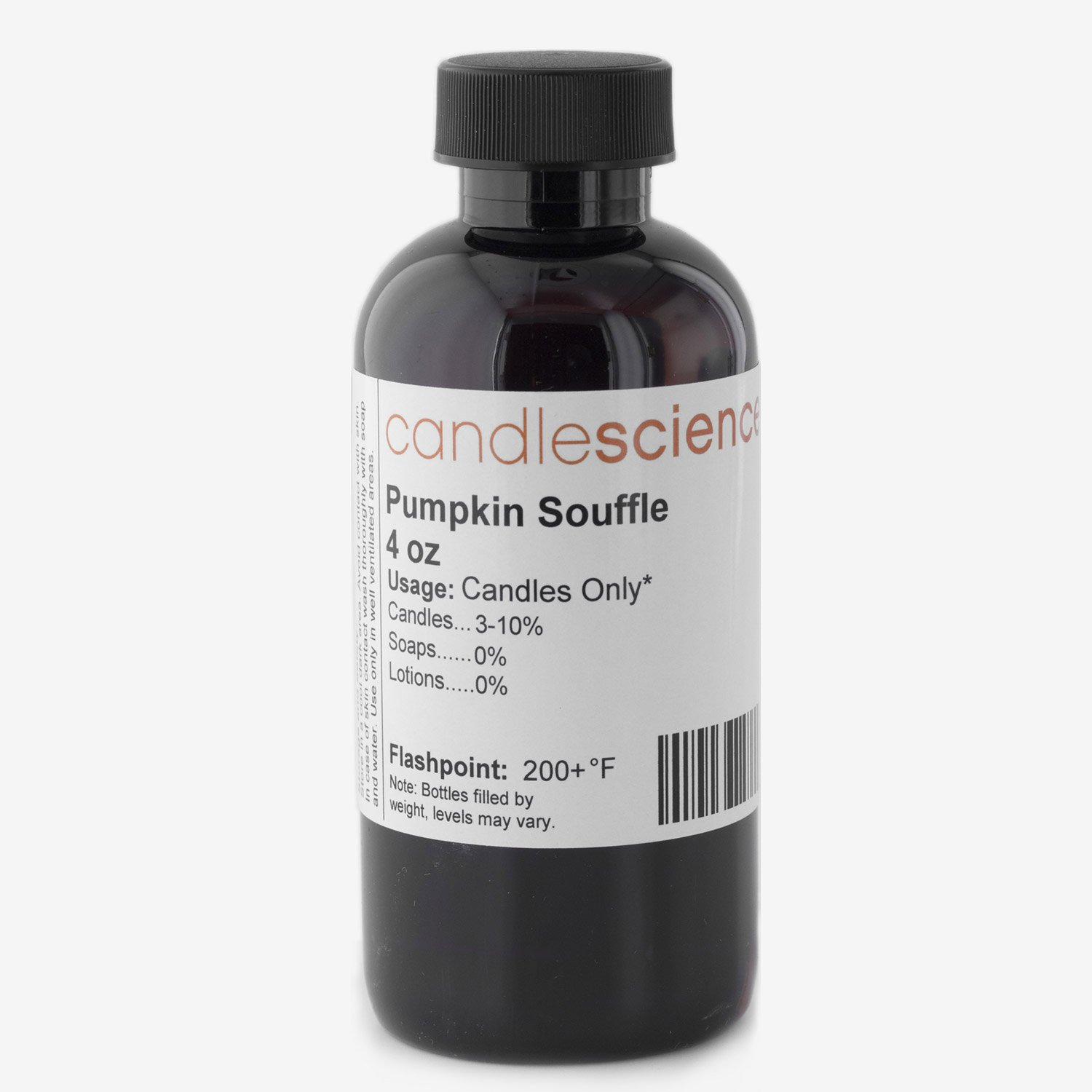 CandleScience - Pumpkin Souffle - Candle Scent 4 oz. - with Butter, Sugar and Spices - Infused with natural essential oils - Great for candlemaking