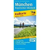 München - Bayerisches Oberland: Radkarte mit Ausflugszielen, Einkehr- & Freizeittipps, wetterfest, reissfest, abwischbar, GPS-genau. 1:100000 (Radkarte / RK)