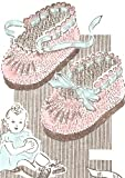 Vintage Crochet PATTERN to make - Baby Booties Soft Shoes Mary Janes. NOT a finished item, this is a pattern and/or instructions to make the item only.