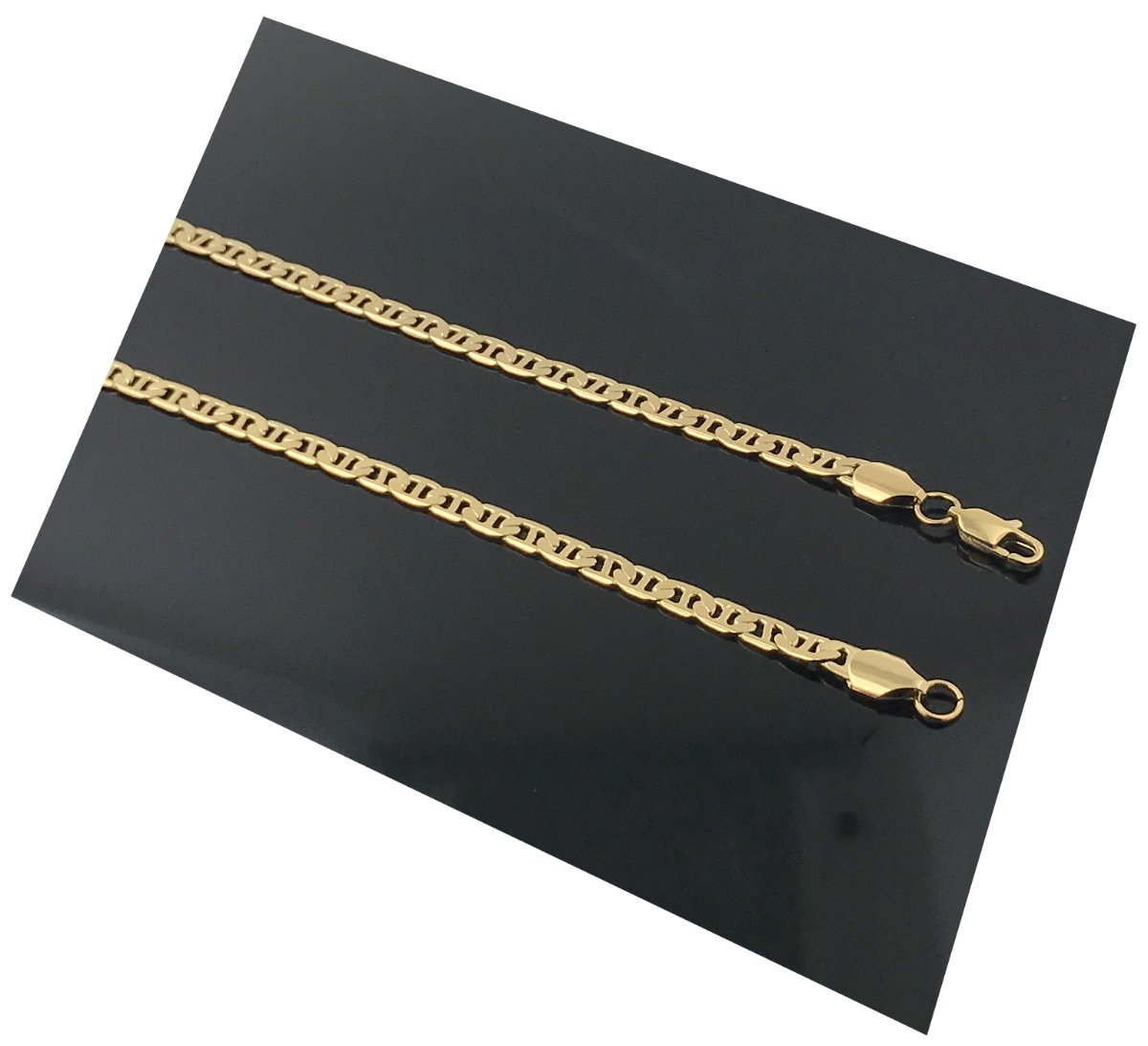 Gold chain necklace 5MM 18K Diamond cut Smooth Marina Chain with a Warrantied, USA made! (22)