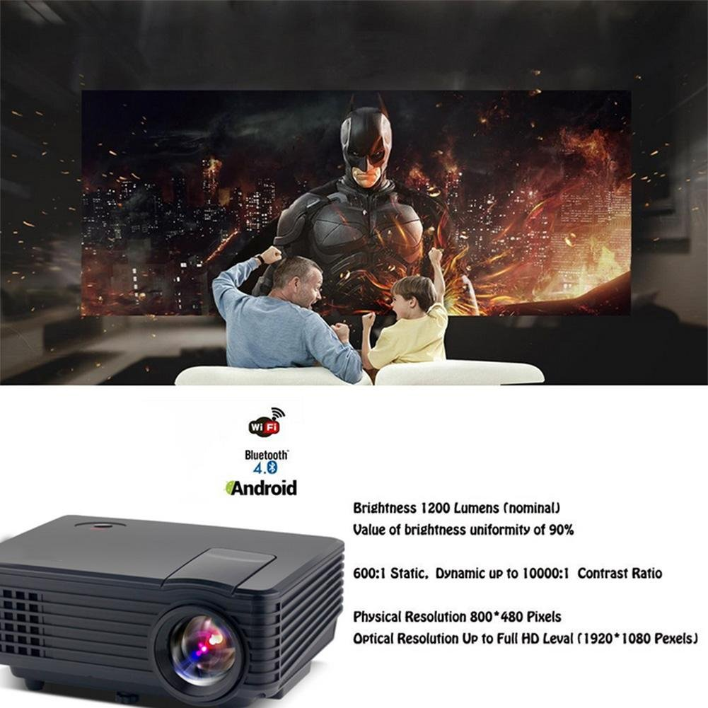 HUWIA Android WiFi LED Proyector, 800 lúmenes Multimedia Mini Pro ...