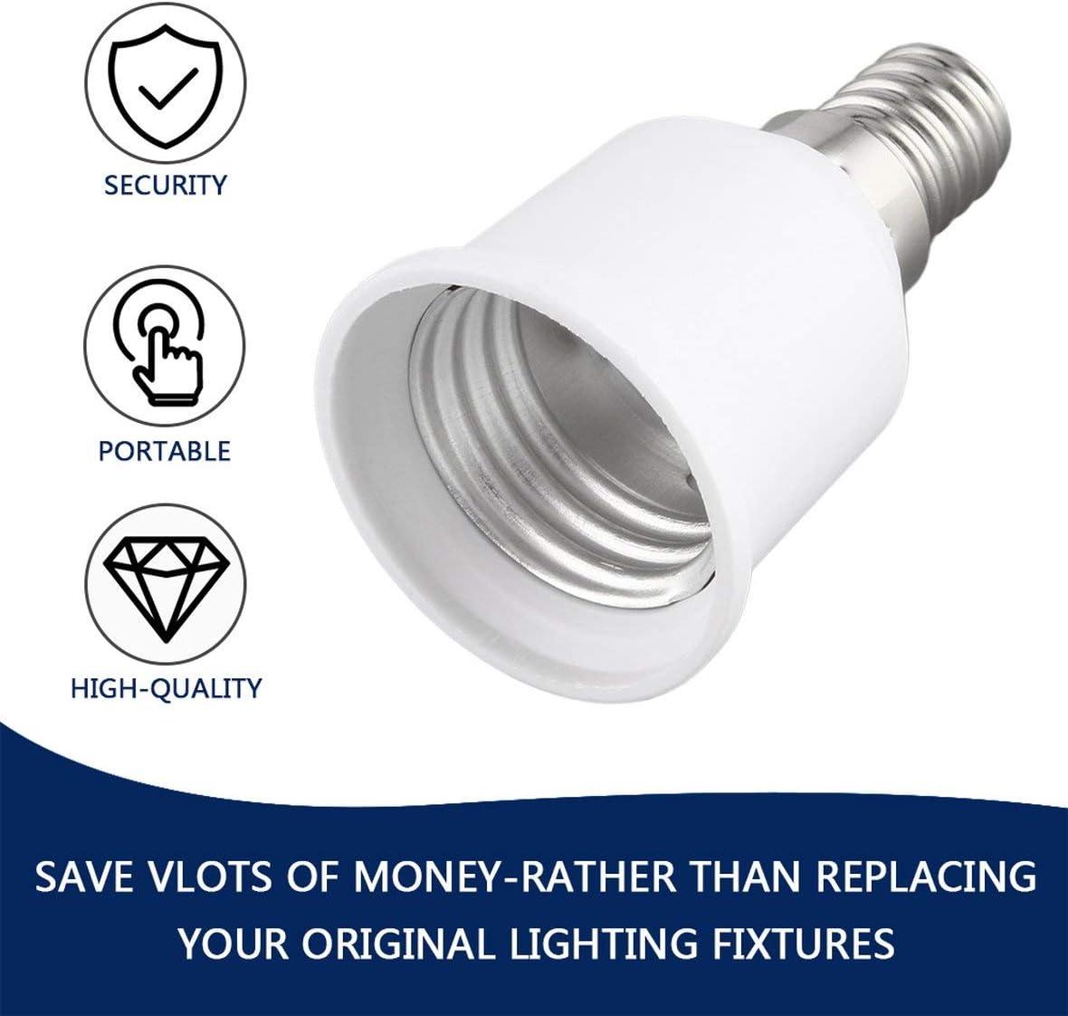 Heaviesk E14 /À E27 Support De Lampe Professionnel Douille De Lampe Durable Maison Douille Portable Liaght Adaptateur Lumi/ère Accessoires