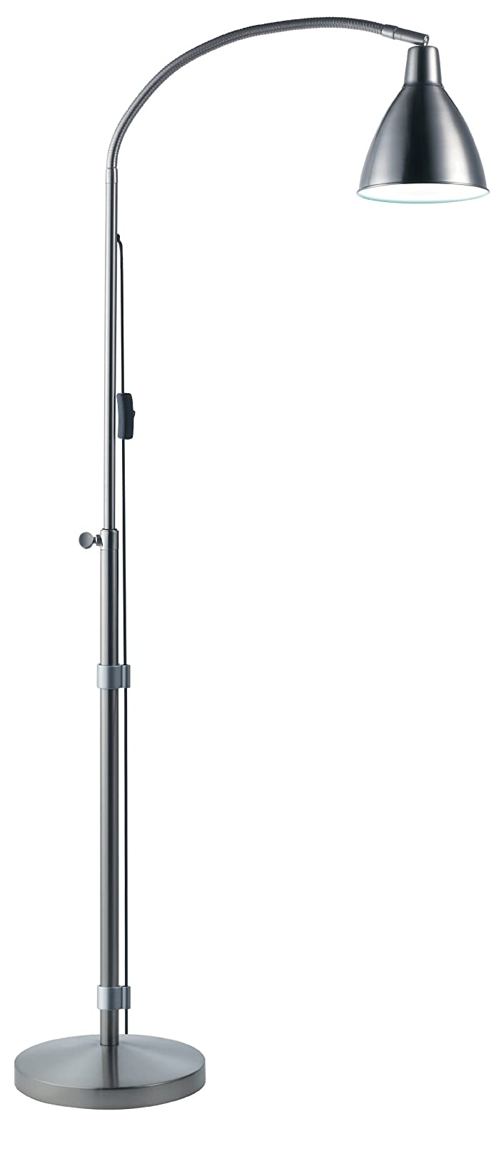 Daylight Flexi-Vision Floor Lamp, Silver