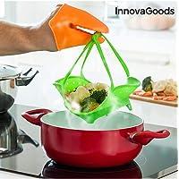 InnovaGoods Vaporera Plegable, Silicona, Verde, 20x4x20 cm