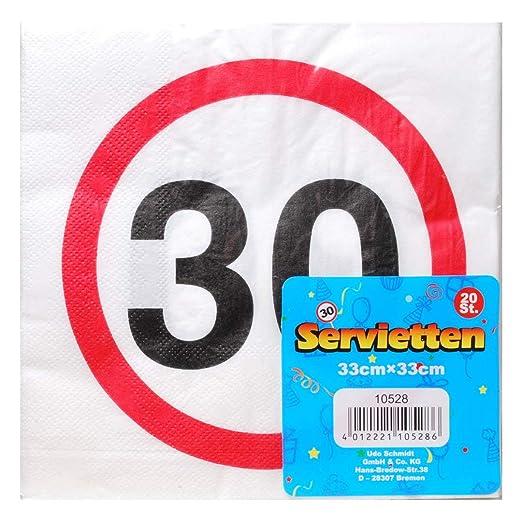 UDO Schmidt GmbH Servilletas 30 Decoración 30. Cumpleaños ...