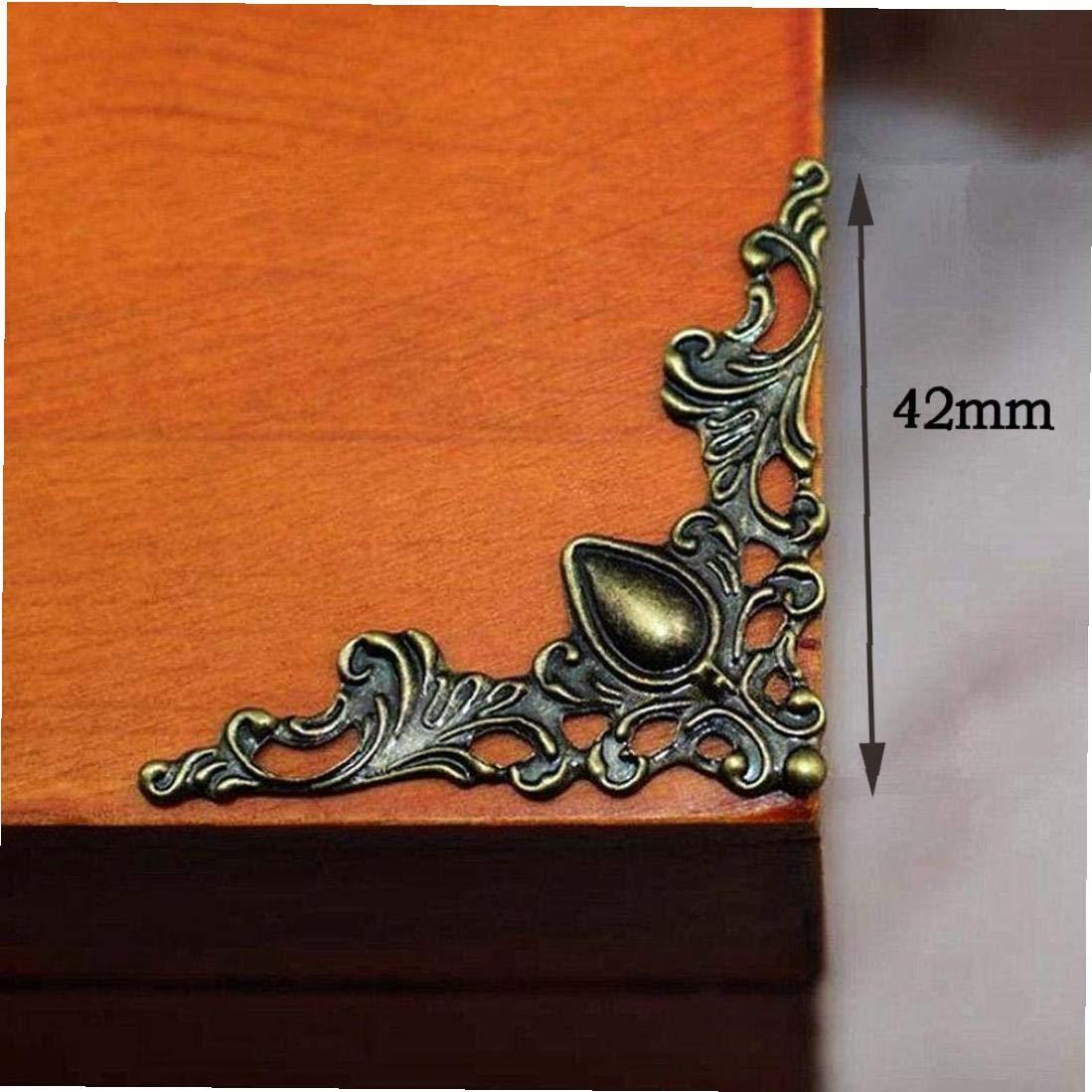 Caja De Hierro 12pcs Papel Decorativo /Álbum De Recortes Protector De La Esquina