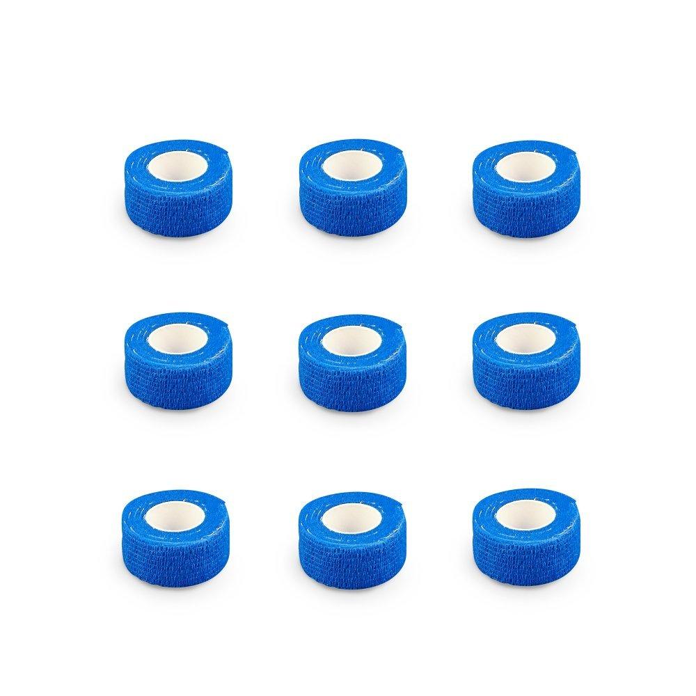 9er-Set Fingerverband | Pflasterverband | Pflaster ohne Kleber - in HAUTFARBEN - 2,5cm x 4,5m - elastisch, wasserabweisend, kohä siv EKNA