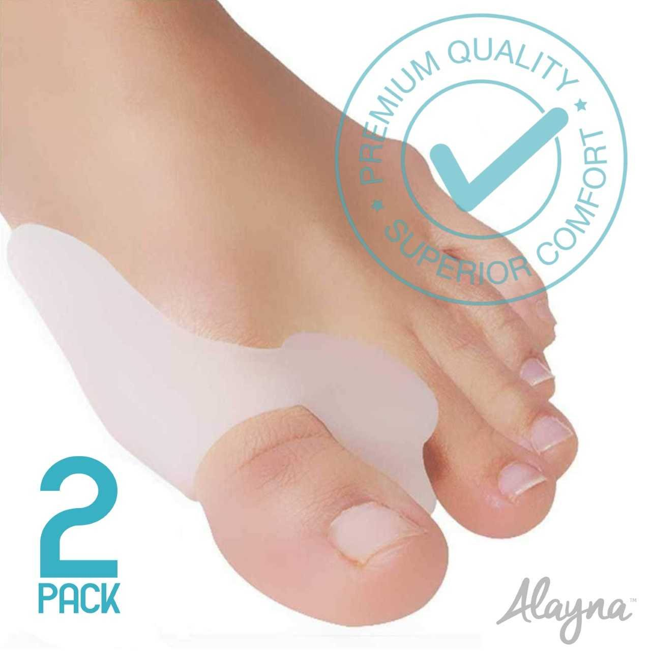 Bunion Corrector and Bunion Relief Gel Toe Protectors / Toe Separators Bunion Pads (1 Pair