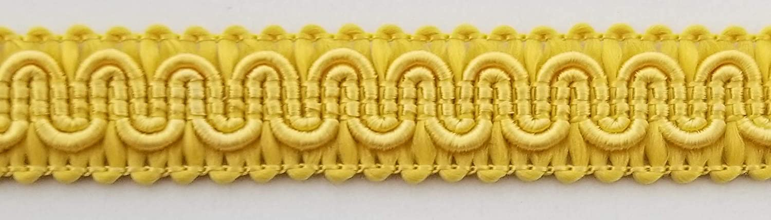 12 Continuous Yards 1//2 Scroll Braid Gimp w//Backing Many Color Options! Camel