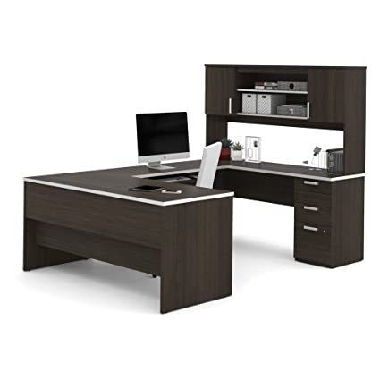 Incroyable Bestar Furniture Ridgeley Collection 52414 79 U Shaped Desk With 1u0026quot;  Thick Commercial