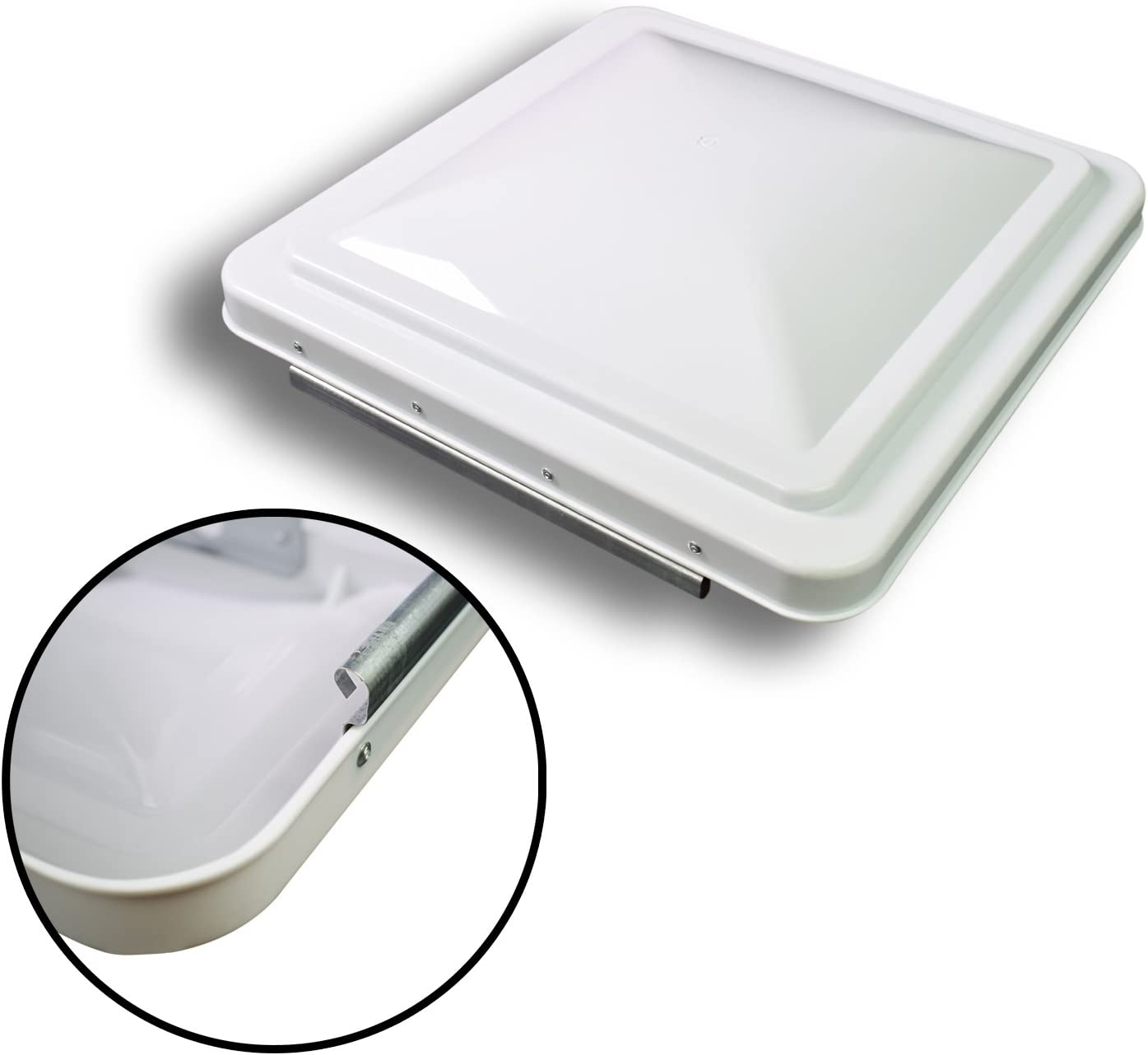 Leisure 14 Inch RV Roof Vent Cover Universal Replacement Vent Lid White for Camper Trailer Motorhome
