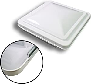Leisure Coachworks 14 Inch RV Roof Vent Cover Universal Replacement Vent Lid White for Camper Trailer Motorhome (White 1-Pack)