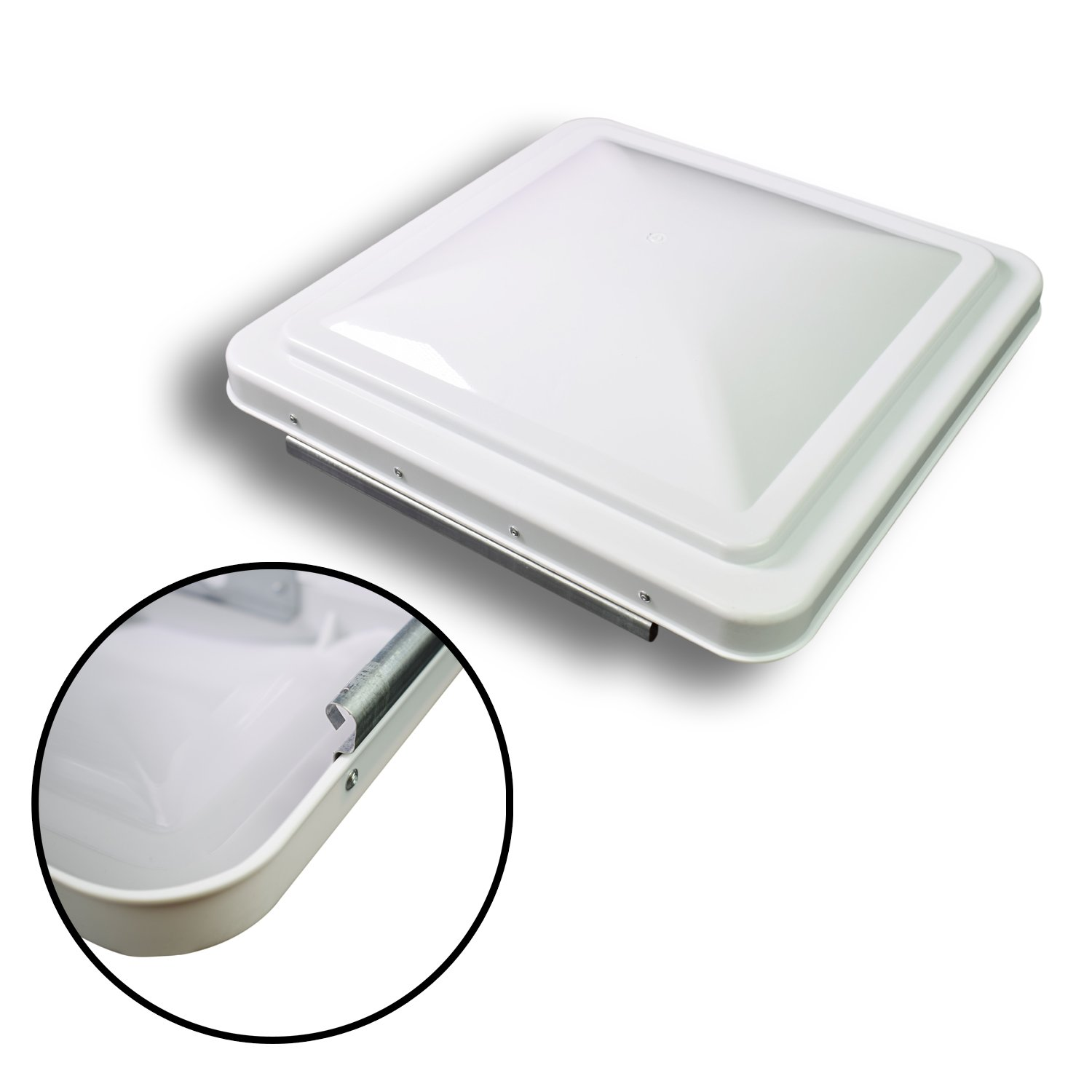 Leisure 14 Inch RV Roof Vent Cover Universal Replacement Vent Lid White for Camper Trailer Motorhome by Leisure