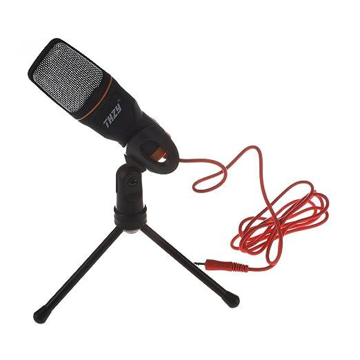 6 opinioni per Microfono, THZY 3.5mm audio collegamento audio del microfono a condensatore con
