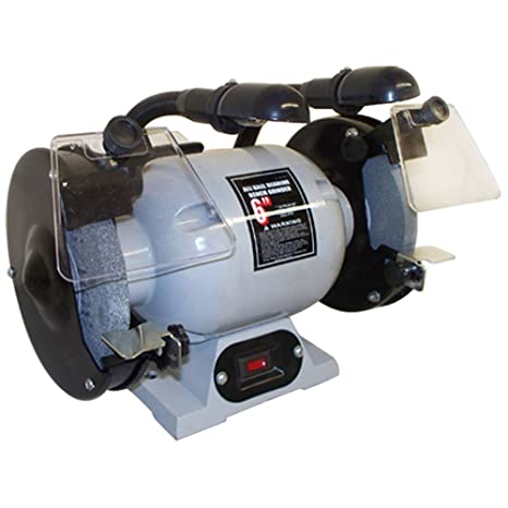 Phenomenal Double 6 Wheel Bench Grinder 1 2 Hp 3550 Rpm With Flexible Lamp Pdpeps Interior Chair Design Pdpepsorg
