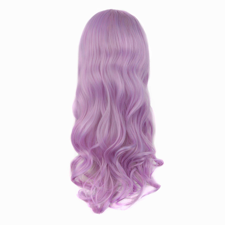 MapofBeauty 28/70cm Beautiful Charming Long Wavy Hair Cosplay Wig (Granny Grey)