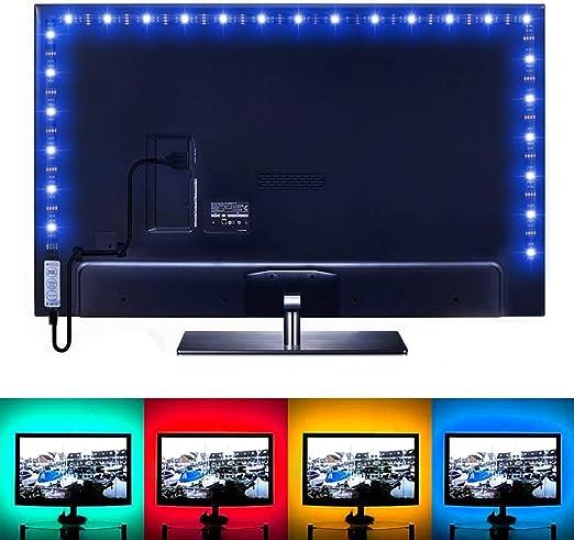 LE Tira LED USB 1m 30 * 5050 SMD RGB Retroiluminación Multicolor, con Controlador, Modos de luz, Decoración del hogar, Ordenador, Muebles: Amazon.es: Iluminación