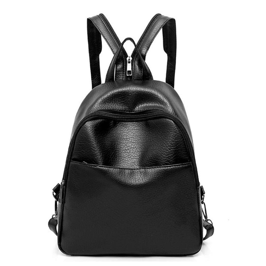 Sameno 3 Pcs Leather Backpack,Women Shoulder Bags Messenger Bags Clutch Wallet