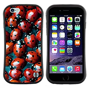 "Hypernova Slim Fit Dual Barniz Protector Caso Case Funda Para Apple (5.5 inches!!!) iPhone 6 Plus / 6S Plus ( 5.5 ) [Red Bug Spots Diseño natural""]"
