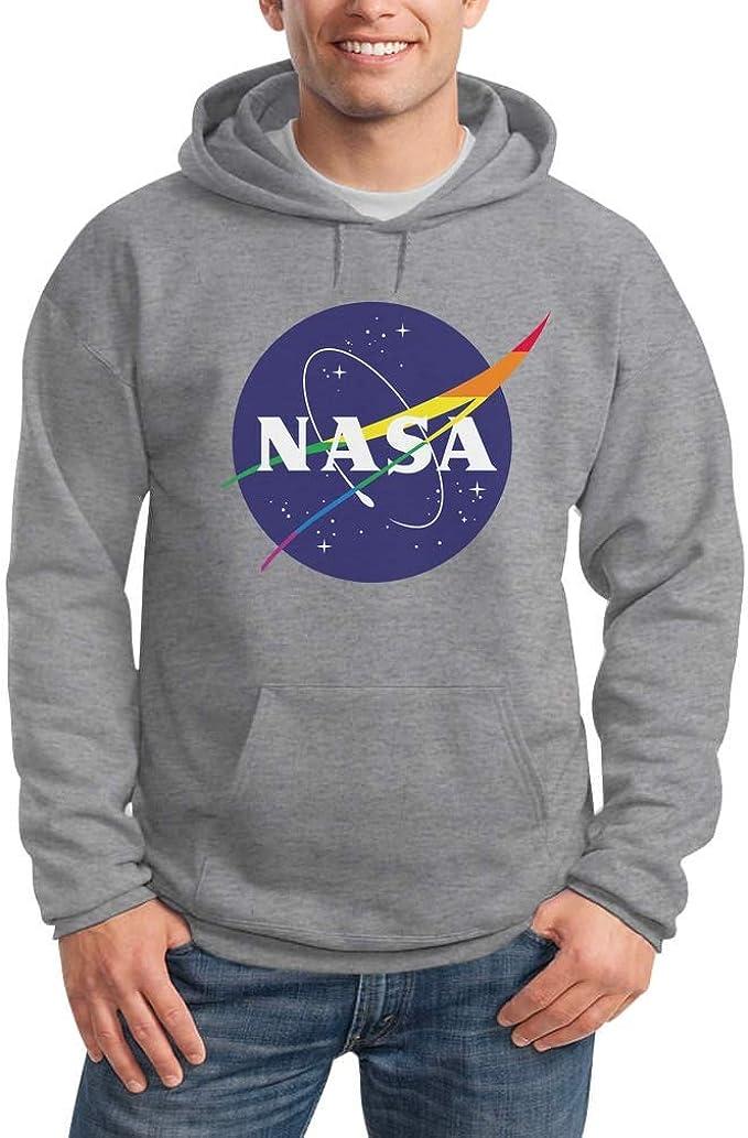 Street Wear Logo NASA LGBT Gay Pride Be Proud Felpa con Cappuccio da Donna