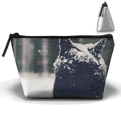 Snow Snowdrops Cat Animals Fashion Travel Bag Trapezoid