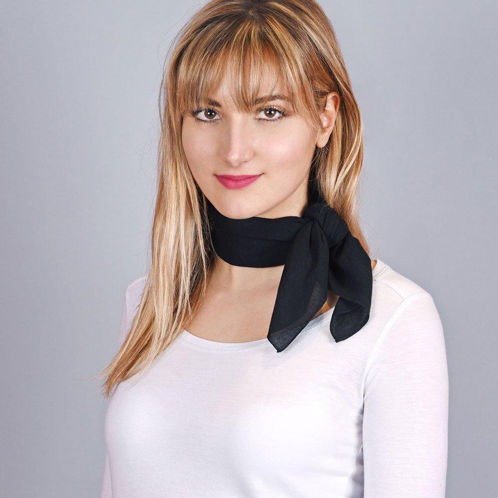 All/ée du foulard Bandana coton Noir uni