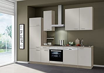 IdealShopping Küchenblock Ohne Elektrogeräte Arta In Sahara 270 Cm Breit