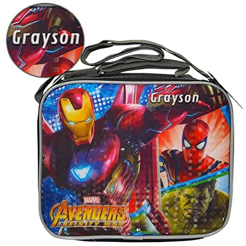 Personalized Licensed Lunch Bag with Strap (Marvel Avengers)
