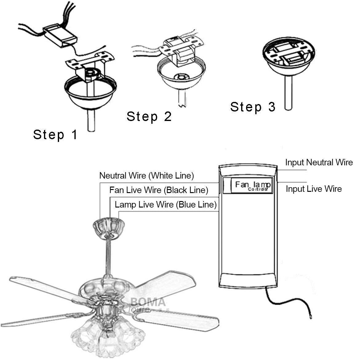Accueil // bureau // h/ôtel // club // salle dexposition // restaurant B PECHAM T/él/écommande pour ventilateur de plafond infra-rouge avec t/él/écommande sans fil